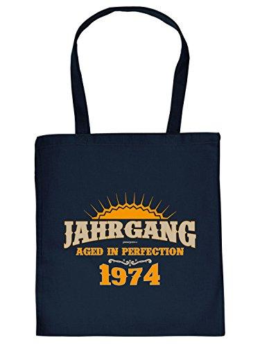 Idea Regalo Per Il 40 ° Compleanno: Unisex Jutetasche / Tote Bag / Borsa In Tessuto / Vintage 1974 Invecchiato Alla Perfezione
