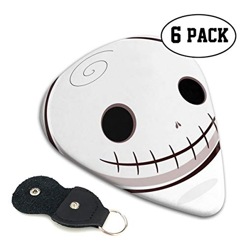 Nice Music Halloween Skull Smiley Ultra Thin 0.46 Med 0.71 Thick 0.96mm 4 Pieces Each Base Prime Celluloid Ivory Jazz Mandolin Bass Ukelele Plectrum Guitar Pick Pouch Display