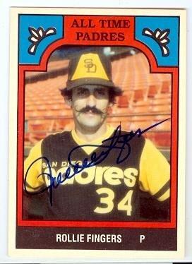 Rollie Fingers autographed Baseball Card (San Diego Padres) 1986 TCMA #11-PAD - MLB Autographed Baseball Cards - Rollie Fingers Autographed Baseball