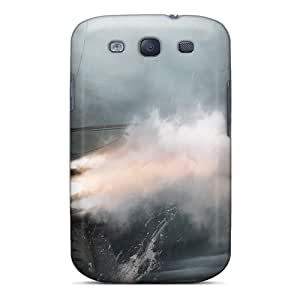 Galaxy S3 Hard Back With Bumper Silicone Gel Tpu Case Cover Assassins Creed Iii Ship Battle