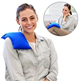 My Heating Pad Microwavable for Pain Relief | Moist Heat Pad for Cramps, Muscles, Joints, Back, Neck and Shoulders | Microwave Hot Pack | Weighted Heat Compress Pillow | Hot Cold Therapy - Blue