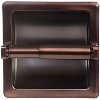 Arista Bath Products Recessed Toilet Paper Holder, Oil Rubbed Bronze