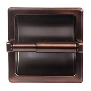 well-wreapped Arista Bath Products Recessed Toilet Paper Holder, Oil Rubbed Bronze