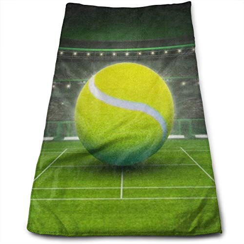 LDJGJBKSHSN Towel Tennis Ball On Grass Court Sport Sports Travel Bath Towel for Yoga Camping Surfing Swimming Gym Super Compact Absorbent Quick Dry Blanket Beach Towel 11