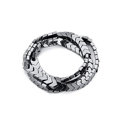 Calvas DC Wholesale 95pcs/lot Gold Color Black Hematite Beads 6mm Wavy Arrow Shape Spacer Beads Charms for DIY Bracelets Jewelry Making - (Color: Black)