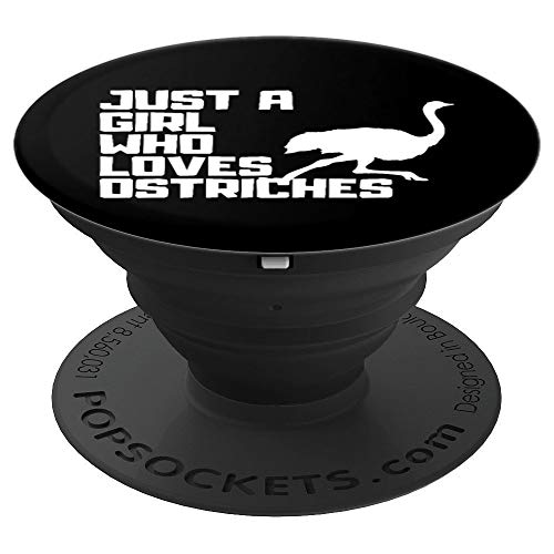 Just A Girl Who Loves Ostriches Funny Emu Bird Lover Meme  PopSockets Grip and Stand for Phones and Tablets