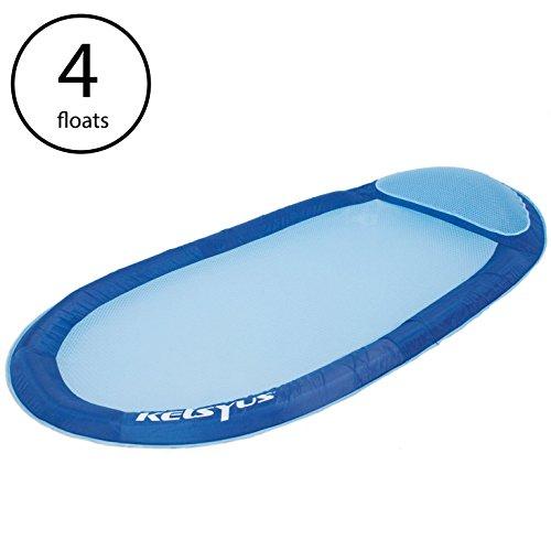 - Kelsyus Floating Hammock Inflatable Pool Lounger Raft (4 Pack)