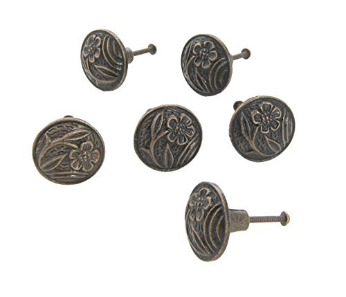 Dritz Home 47062A Cast Iron Art Nouveau Knob Handcrafted Knobs for Cabinets & Drawers ()