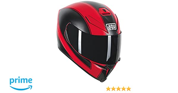 Amazon.com: AGV K5 Adult Enlace Street Motorcycle Helmet - Matte Red/Black / Small/Medium: Automotive
