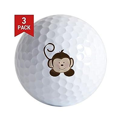 CafePress - Pop Mod Monkey - Golf Balls (3-Pack), Unique Printed Golf Balls
