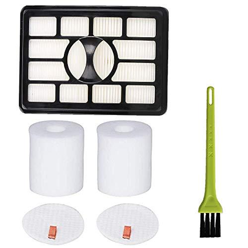 Price comparison product image VideoPUP 1pcs Replacement Hepa Filter 2pcs Foam Filters Vacuum Filter for Shark Rotator Pro Lift-Away NV500 NV501 NV505 NV552 UV560 Replace XHF500 XFF500,  Filter Foam and Felt Filter Kit