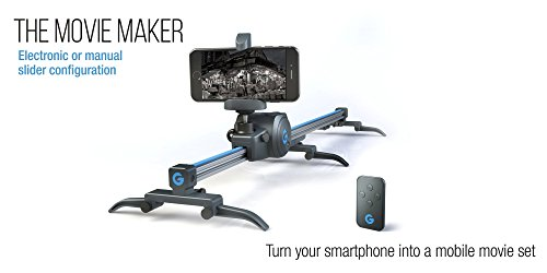 Grip Gear's Movie Maker Set - Electronic Sliding Track System with Variable Speed and Motorized 360° Panoramic Time Lapse Head compatible with Smartphones, GoPros, Digital Cameras (Video Movie Camera)