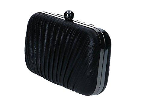 Geldbeutel frau MICHELLE MOON pochette schwarz Zeremonie metallic Öffnung N895