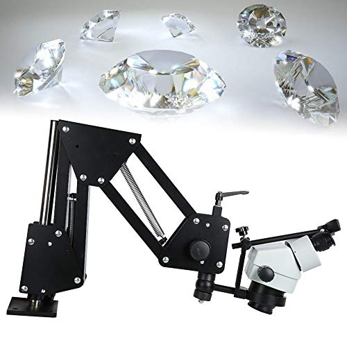 Microscope Jewelry Micro Insert Machine, with Micro Inlaid Mirror Multi-Directional Spring Bracket Have 77 and 85 Optional Thickened and Widened Lens(#2)