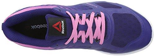 Reebok Quantum Leap Btb - Zapatillas de Entrenamiento Mujer Morado - Violett (NIGHT Beacon/Icono Pink/White)