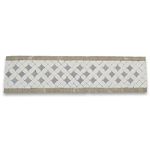 Inca 3-1/4x12 Marble Mosaic Border Tumbled ()