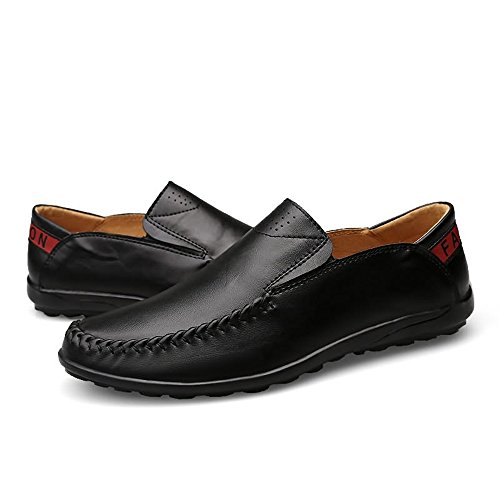 Color da Comfort Nero 2018 Mocassini uomo tempo uomo Dimensione on Mocassini 42 Hongjun shoes Mocassini libero guida il EU pelle da in per slip ExAqRpHw