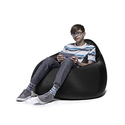 Jaxx Nimbus Spandex Bean Bag Chair For Teens Black