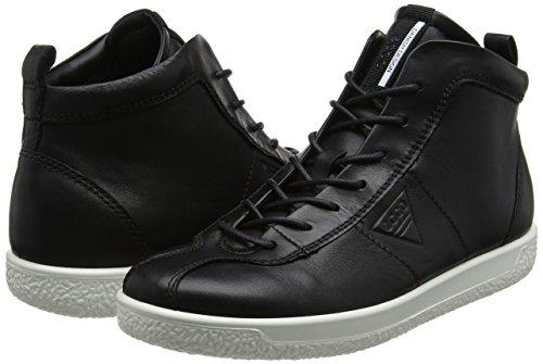 Ecco Collo Sneaker A Alto Donna 1 Nero Ladies Soft black xqTSwrx