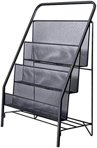 AGWa Estantes estante con patas revista Metal rack Quiosco Biblioteca Escalera Portátil estante libros para niños,Negro,16.92 * 9.05 * 25.19in: Amazon.es: Bricolaje y herramientas