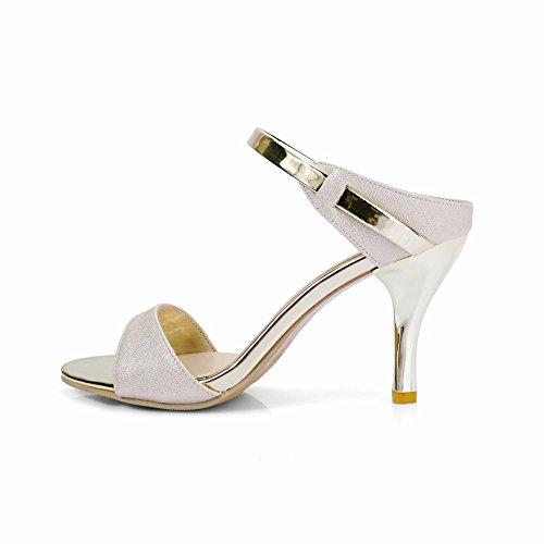 Pantofole Da Donna Sexy Carolbar Con Tacco Alto E Stiletto Con Sandali Beige