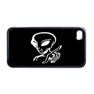 Alien Apple iPhone 4 or 4S RUBBER cell phone Case / Cover Great Gift Idea