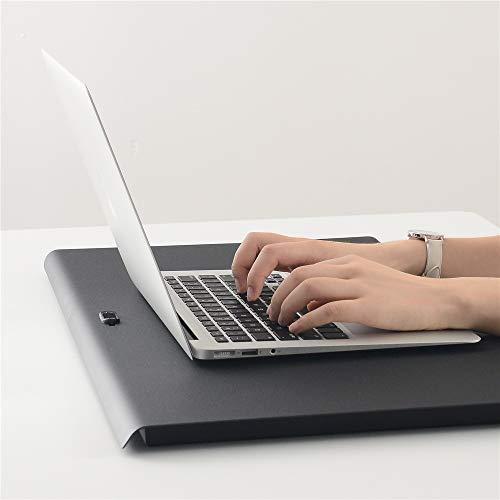 """01fda347fc3f TSFUR Desktop Standing Desk Converter - 0.9"""" Ultra Thin Metal Computer  Laptop Desk Stand -"""