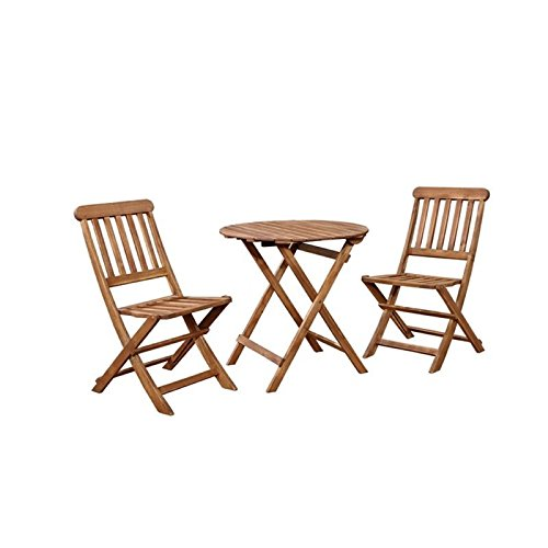 Hawthorne Collections 3 Piece Patio Bistro Set in Teak Review