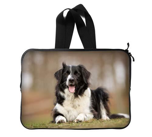 Beautiful Border Collie Puppy Custom Lapotp Sleeves Bags 13