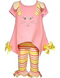 Bonnie Jean Girls Easter Bunny Applique Legging Set