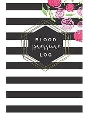 Blood Pressure Log: Modern Striped and Floral Blood Pressure Log Book, Blood Pressure Log Book for Women, 6x9 Blood Pressure Log Journal