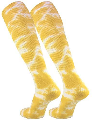 Gold Dye Tie (TCK Sports Tie Dye Multisport Tube Socks (Gold/White, Small))