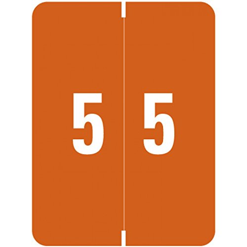 "SMEAD COMPATIBLE SMNM-5 Xlcc Color Code Label, Permanent, Numeric""5"", 1 1/2"" x 2"", Brown (Pack of 500)"
