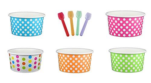6 oz ice cream paper cups - 4