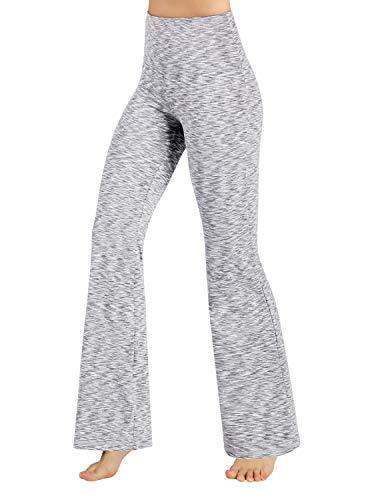 ODODOS Power Flex High Waist Boot-Cut Yoga Pants Tummy Control Workout Non See-Through Bootleg Yoga Pants,SpaceDyeWhite,XX-Large