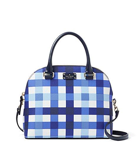 Kate Spade Carli Grove Street Printed Crossbody Bag Purse Handbag (Pacific Gingham)