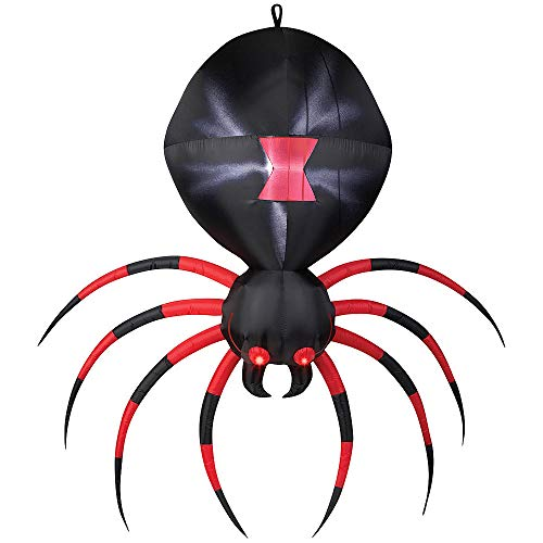 Airblown 6.9' Black Spider Halloween Inflatables Weather Resistant Fabric ()