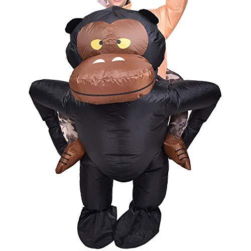 lem Chimpancé Inflable Chimpancé Mono Gorila Mono Disfraz Disfraz ...