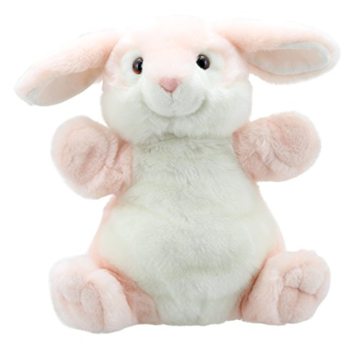 The Puppet Company Cuddly Tumms Pink Rabbit Hand Puppet