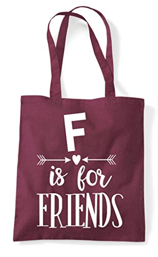 Bag F Burgundy Matching Statement Is Friend Tote Best Friends Bff For Shopper rfwzr