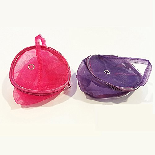 Yarn Case Yarn Storage Baskets Knitting Yarn Round Plastic Bags for On The Go Knitter and Traveling 2pcs