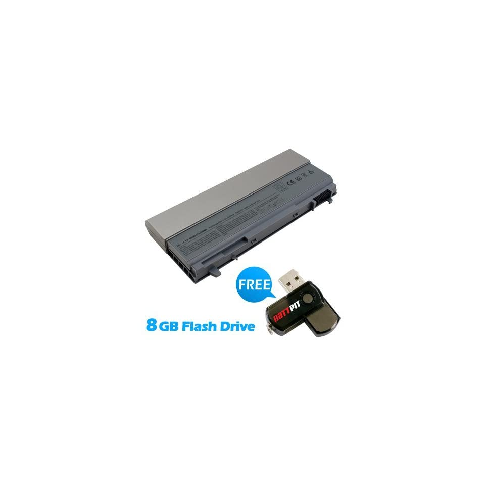 Battpit™ Laptop / Notebook Battery Replacement for Dell Latitude E6400 XFR (8800mAh / 98Wh) with FREE 8GB Battpit™ USB Flash Drive