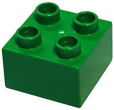 LEGO Parts and Pieces: DUPLO Bright Green 2x2 Brick x20