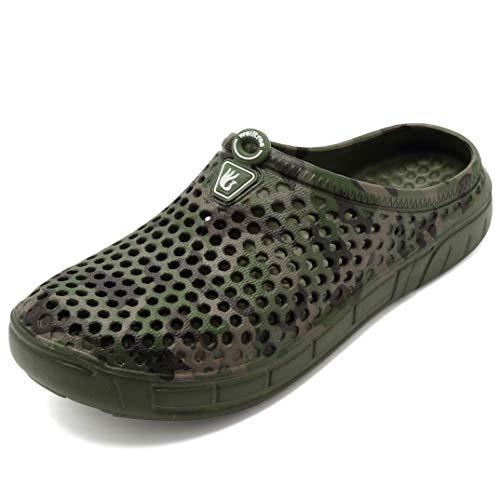 Head Pjs Bed - welltree Unisex Women's Men's Garden Clog Shoes Quick Drying Slippers Sandals 8 US Men / 10 US Women CamoGreen/41