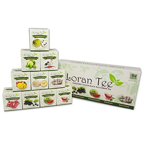 LORAN Tee Collection Selection Box 200g, 10 Sorten, Tee Probierpaket Geschenkbox