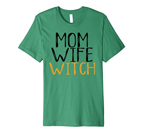 Mens Green Goblin Costume (Mens Mom Wife Witch Halloween Costume for Mother Funny Boo Shirt XL Kelly Green)