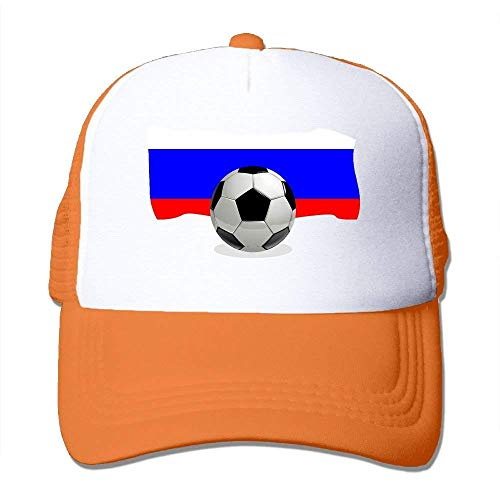 NDJHEH Gorras béisbol Two Tone Trucker Hat - Soccer Ball with Russia Flag - Adjustable Mesh Hat