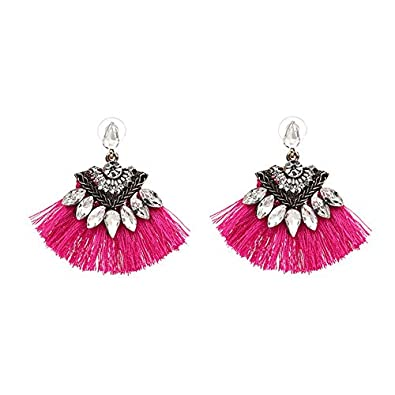 7dff11e4abdb Buy FashionNeeds Bohemia Dangle Drop Earrings Women Accessories Fan Shaped  Cotton Online at Low Prices in India | Amazon Jewellery Store - Amazon.in