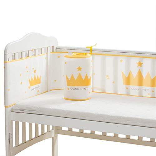 Wenosda Baby Cot Bumper Breathable Crib Enclosure 3D Sandwich Mesh Liner for Infants Baby