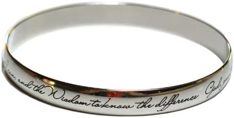 Serenity Prayer Bangle Serenity Prayer Bracelet Fine Discreet Engraving for Women